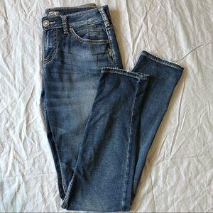 Silver Suki Dark Wash High Rise Skinny Jean